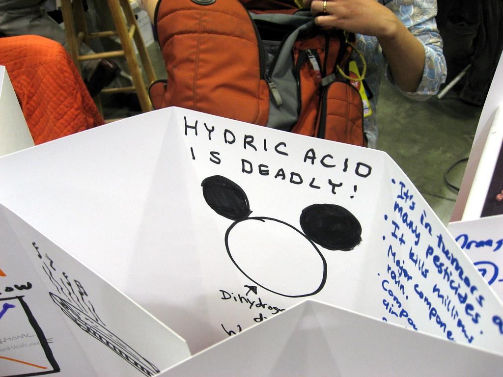 hydric acid is deadly ha ha seen at the maker faire flickr