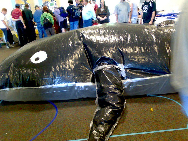 Just Another Giant Inflatable Whale Made Of Trash Bags And