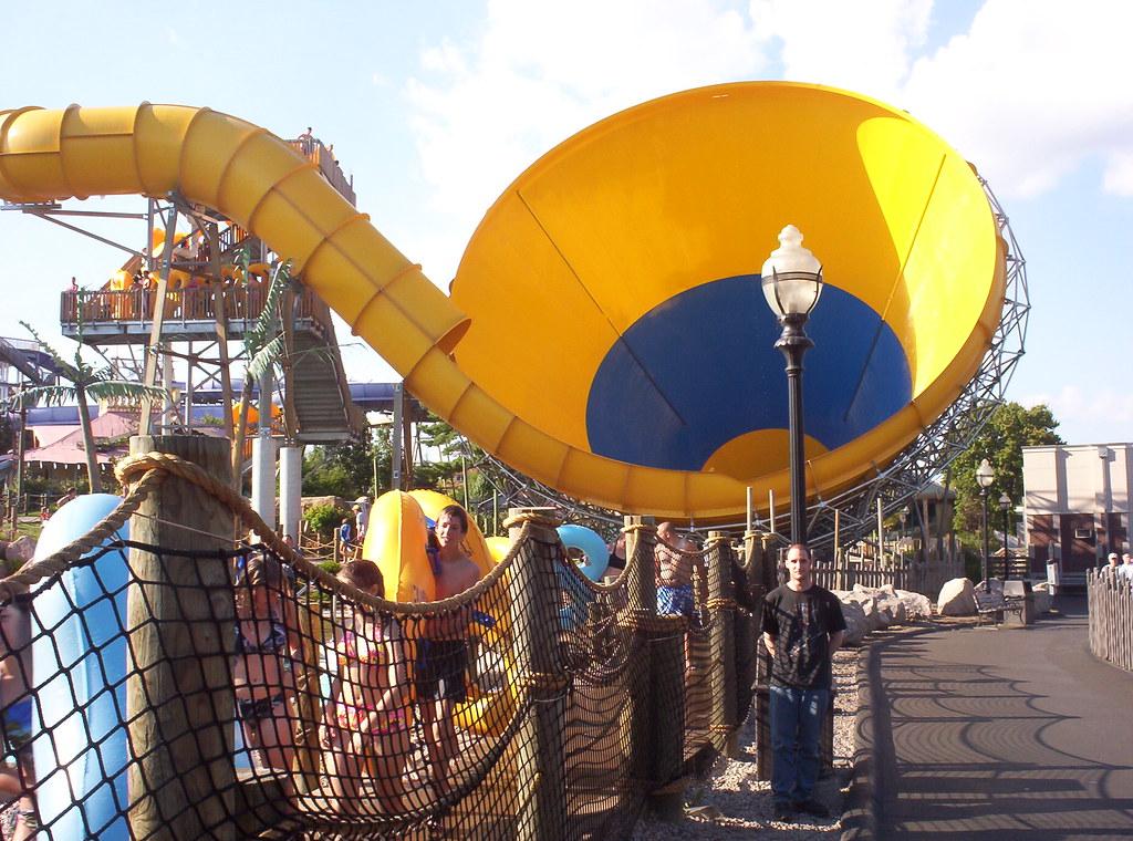 Tornado water slide | Six Flags New England, Agawam, MA ...
