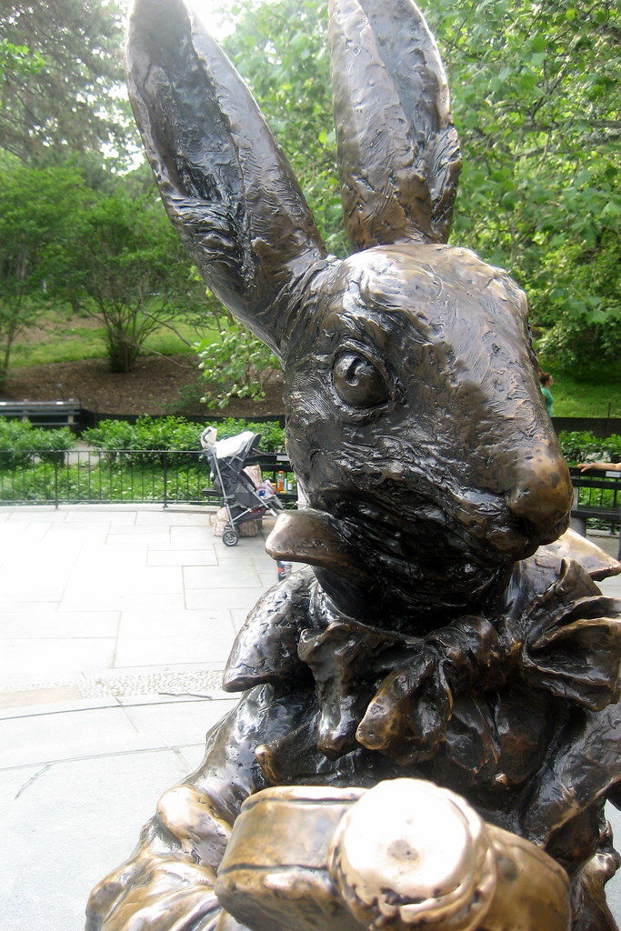 nyc central park alice in wonderland white rabbit by wallyg