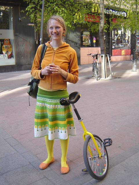 yksipyöräinen polkupyörä