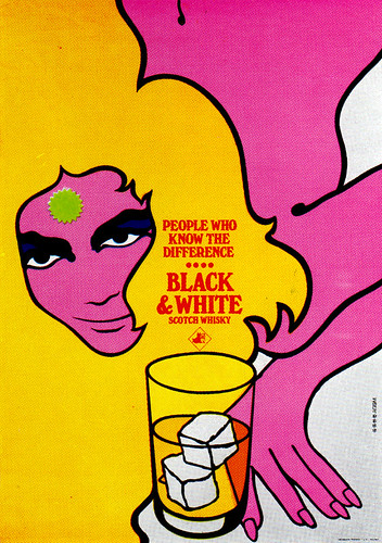 1960s Advertising - Poster - Black & White Whiskey (Italy) | by ChowKaiDeng