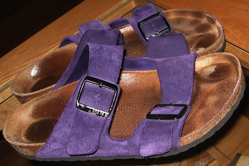 Purple Birkenstock | by sandrino