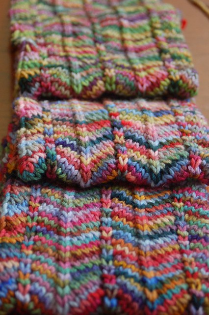 Free Knitting Patterns For Variegated Yarn : Chevron Scarf Jody McKinley Flickr