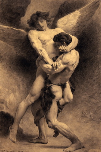 Bonnat, Jacob Wrestling Angel (1876) | by austinistdotcom