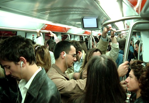 crowded subway car in rome 2007 by todd mecklem flickr. Black Bedroom Furniture Sets. Home Design Ideas