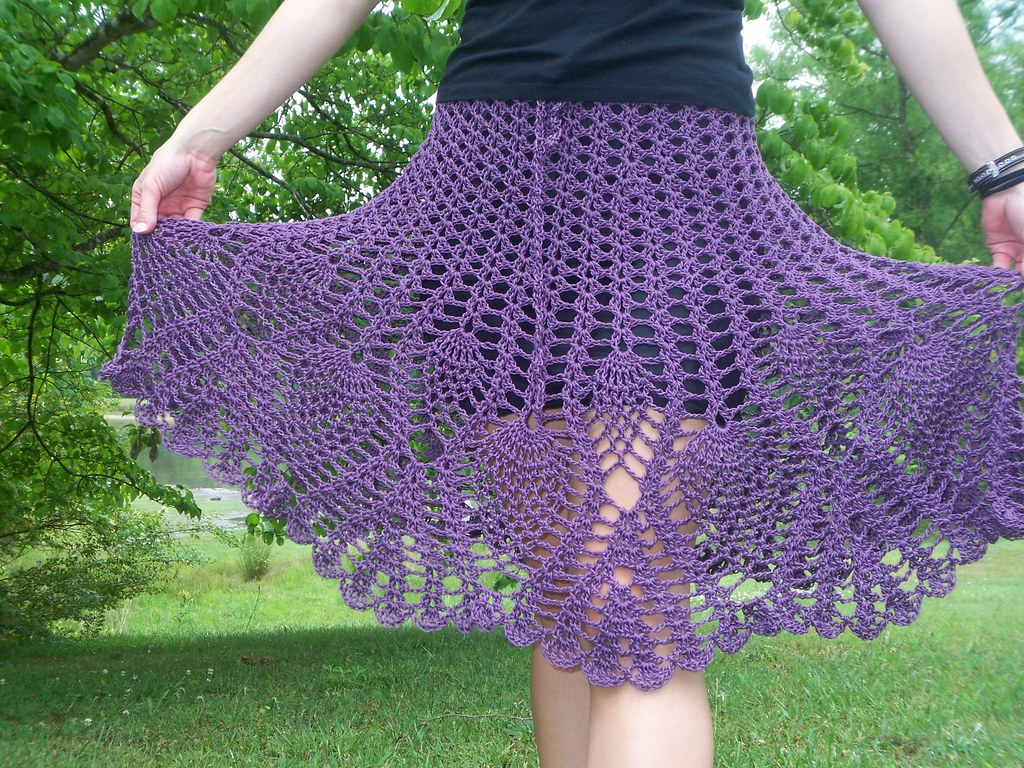 Crochet skirt with pineapple stitch | Kelli | Flickr