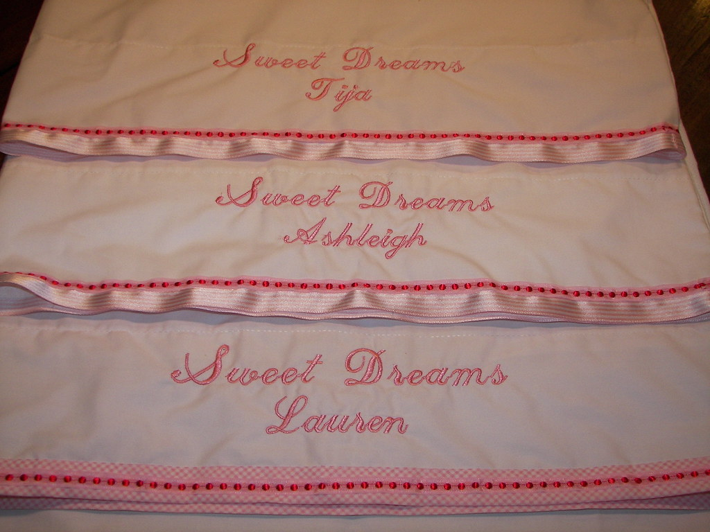 Party Pillow Cases Embriodered Favor Fo Flickr With Embroider Sweet Dream By Mommawants1more