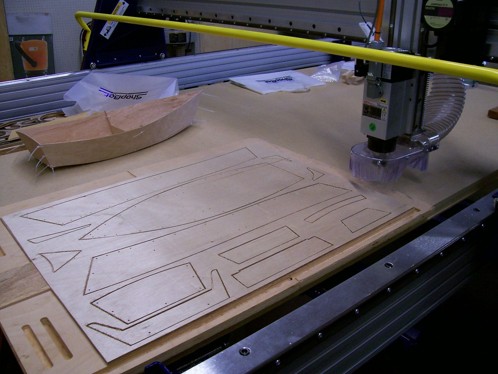 Cnc Router This Machine Cut Out Pieces From A Sheet Of