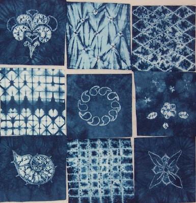 Shibori Samples 2 Samples Of Different Stitch Resist