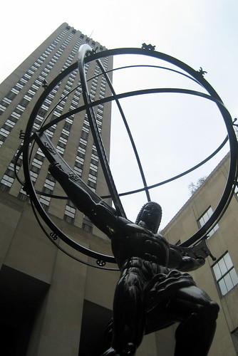 NYC - Rockefeller Center: Atlas and GE Building | by wallyg