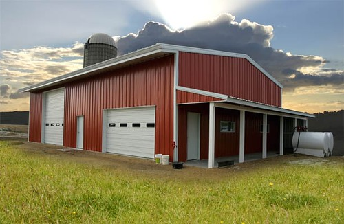 Gorgeous red barn metal building great plains a symbol for Red metal barn