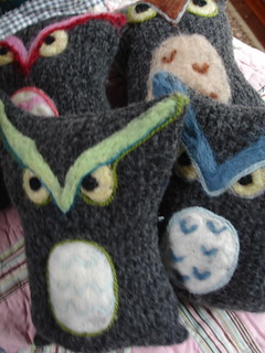 felted owls | by bitterbethany