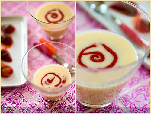 White Chocolate Soup and Strawberries | Béatrice Peltre | Flickr
