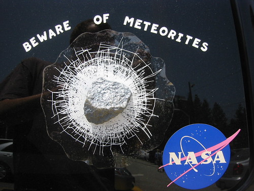 Nerd Picture Of The Day: Awesome meteorite bumper sticker | by tobo