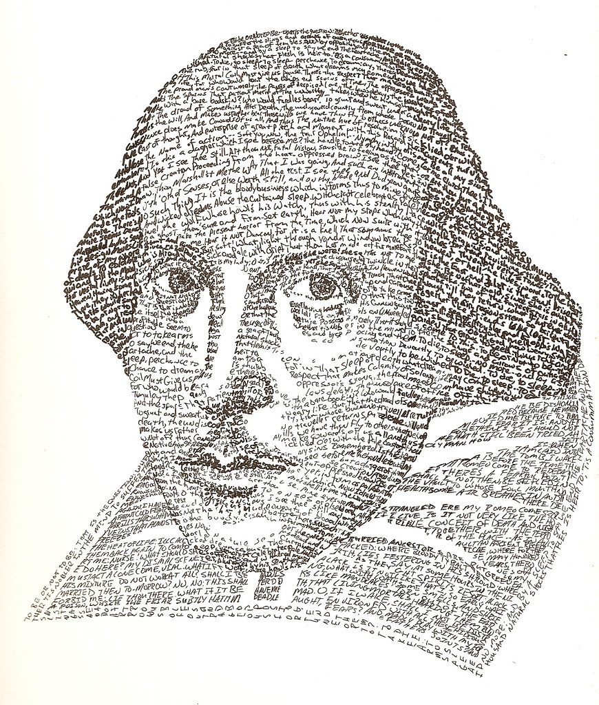 william shakespeare text portrait done i was going to flickr william shakespeare text portrait by yelnoc