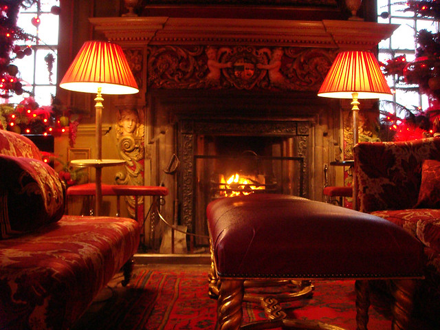 Log Fire In Tapestry Room Of Edinburgh S Prestonfield Hote