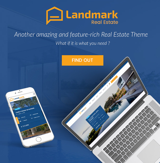 Landmark real estate wordpress theme