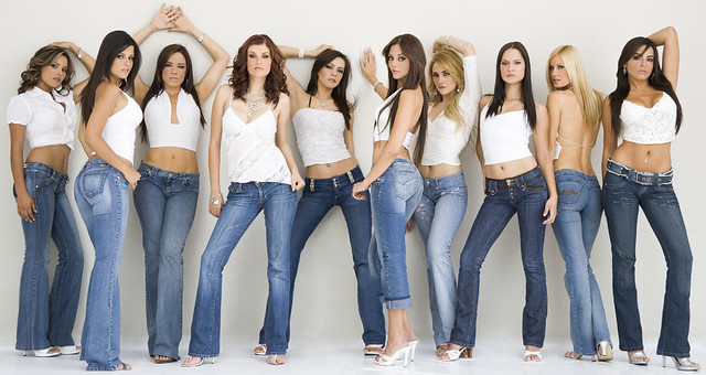 Models  Mexican Models Shot In Sexy Blue Jeans Follow Me -5464