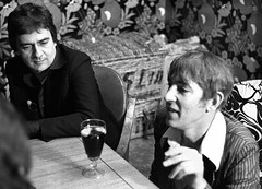 Peter Cook and Dudley Moore by Eric Hands