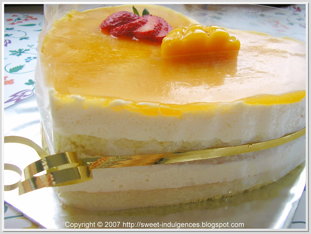 White Mousse Cake Dried Rose