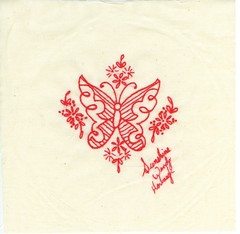 redwork butterfly signature block | by sunshine's creations