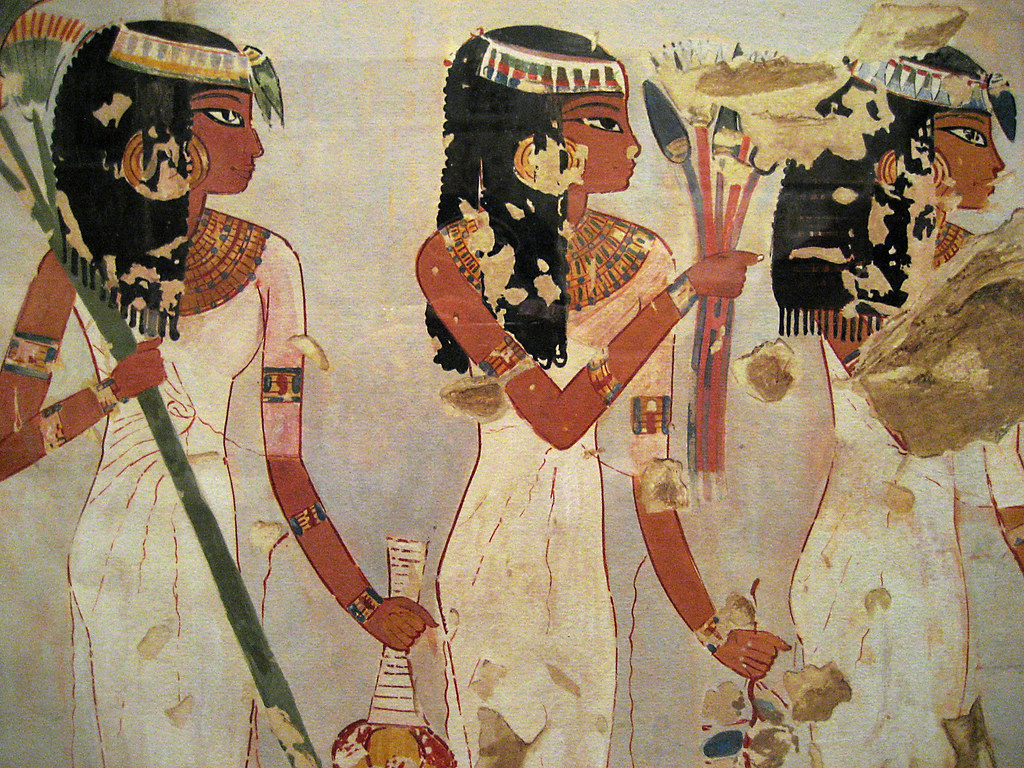 Egyptian wall paintings from the new kingdom egyptian for Egyptian fresco mural painting