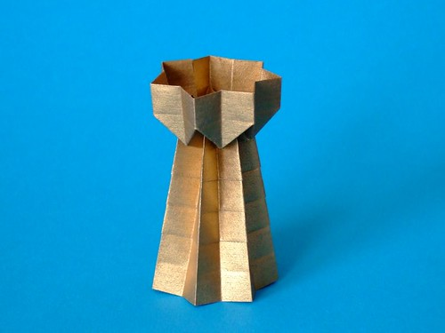 origami tower tower designed and folded by andreas bauer