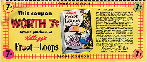 Froot Loops Coupon, 1964 | by Roadsidepictures