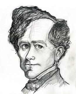 Franklin Pierce | Graphite sketch. 11x14 inches | By: Caricature80 . - 4559967825_faca281cc9_n