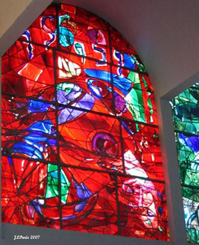 Marc Chagall Windows at Hadassah Hospital | View On Black ... Chagall Hadassah Windows