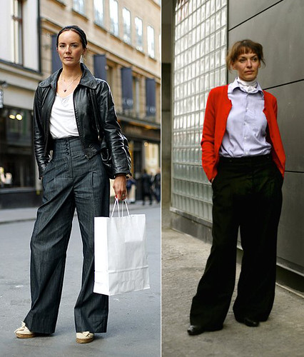 How to wear high-waisted wide leg pants | I bought a pair of… | Flickr