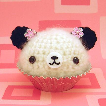 Amigurumi Cherry Blossom Panda Cupcake Bear Jou Ling Yee ...