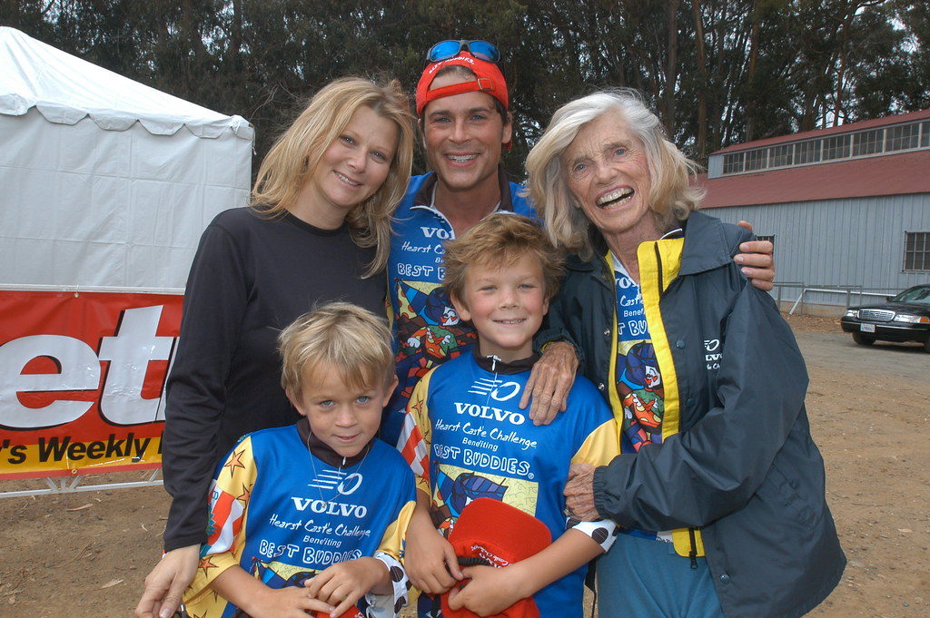Rob Lowe and family along with Eunice Shriver at the 2004 ...
