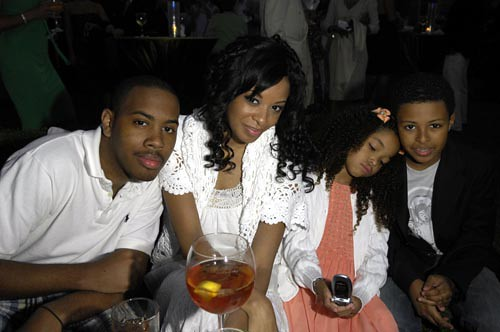 Diggy Simmons And His Sisters PALM BEACH, FL - MARCH...
