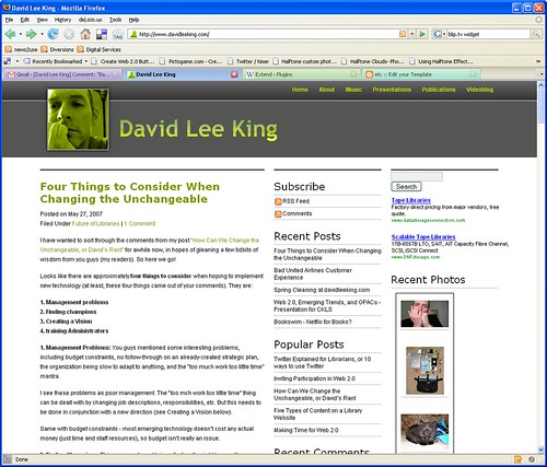 New Theme at davidleeking.com | by David Lee King