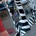 Zebra-striped storefront