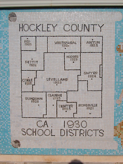 Hockley County's 1930 School Districts Mosaic (Levelland ...