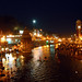 Holy river Ganges in the Night, Haridwar