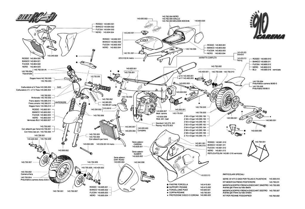 assembly diagram for a 910 carena