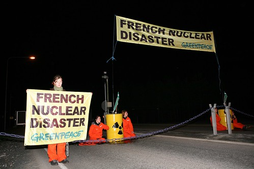 Greenpeace activists block road leading to nuclear facility at Olkiluoto | by Greenpeace (Nordic countries)