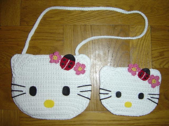 Crochet Hello Kitty Ladybug Handbag And Coin Purse Flickr