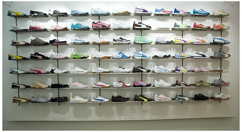 Running Shoe Wall