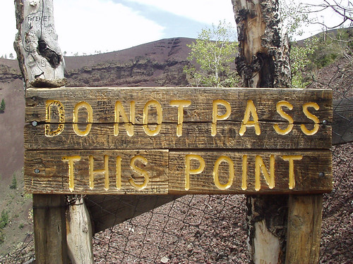 Pass only at your own risk | by Vicki & Chuck Rogers