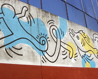 keith haring at a city pool | by sgt fun