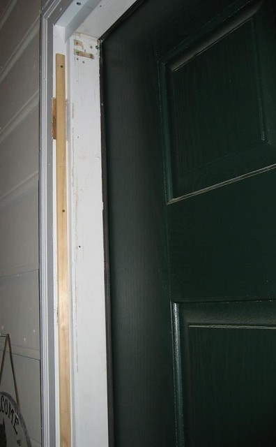 Img 3142 The Storm Door Installation Needed A Shim To