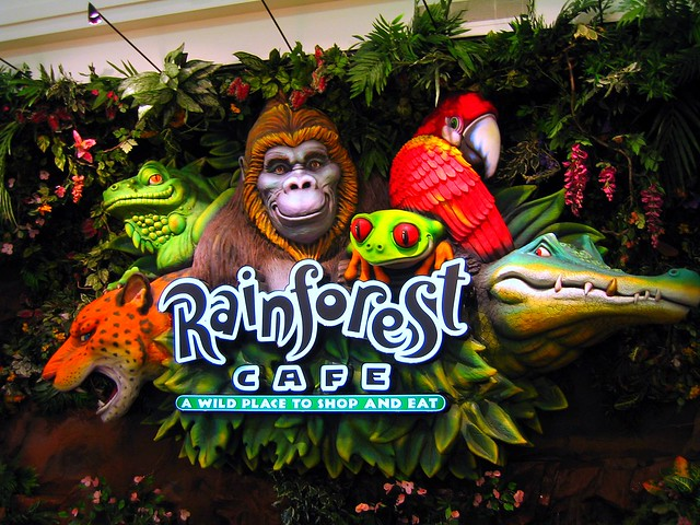 Rainforest Cafe Minnesota Menu