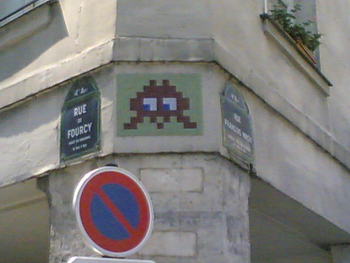 Space Invader Woz Here | by clotilde
