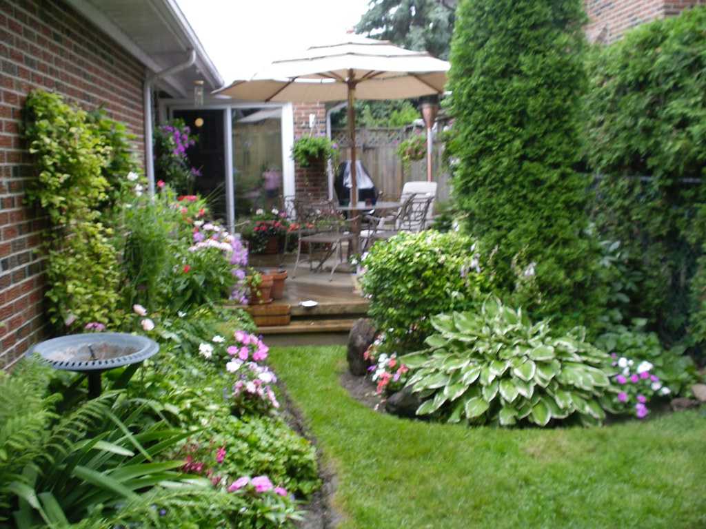 our back yard garden in july 05 the backyard is small due u2026 flickr