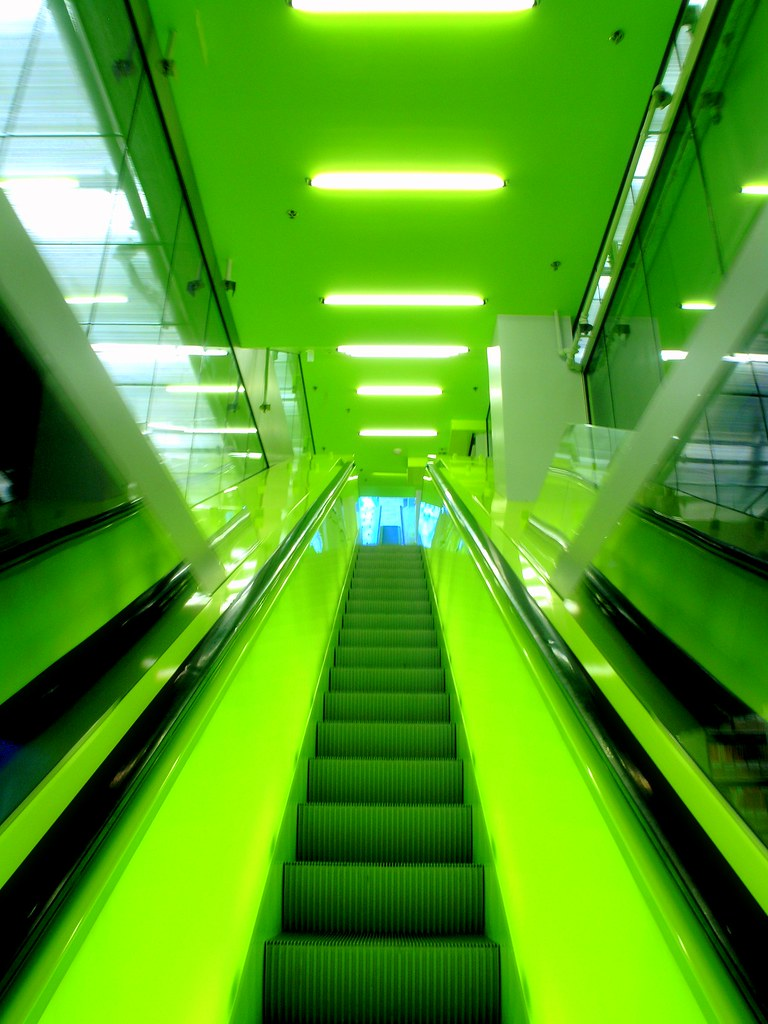 The Green Ascent This Seattle Central Library Escalator Flickr